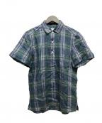 Errico Formicola(エリコフォルミコラ)の古着「リネンショートスリーブプルオーバーシャツ」|グリーン