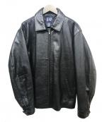 OLD GAP(オールドギャップ)の古着「レザージャケット」|ブラック