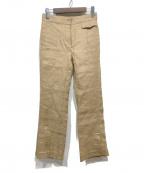 77circa(ナナナナサーカ)の古着「CENTER SEAM LINEN SLIT PANTS」 ベージュ