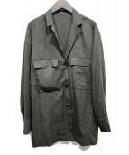 BEAUTY&YOUTH(ビューティアンドユース)の古着「オープンカラーベルトシャツジャケット」 オリーブ