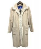 BURBERRY BLUE LABEL(バーバリーブルーレーベル)の古着「モヘアアルパカ混コート」 ベージュ