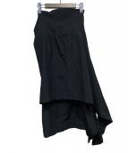 COMME des GARCONS(コムデギャルソン)の古着「アシンメトリースカート」|ブラック