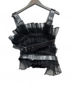 noir kei ninomiya(ノワール ケイ ニノミヤ)の古着「オーガンザバックルハーネストップ」|ブラック