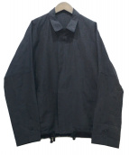 ()の古着「Slab Linen Wool Box Jacket」|ネイビー