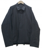 YANTOR(ヤントル)の古着「Slab Linen Wool Box Jacket」 ネイビー