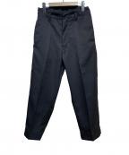 SHINYA KOZUKA(シンヤコズカ)の古着「ファーマーイージーパンツ」|ブラック
