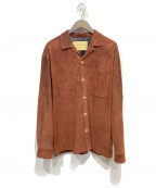 seven by seven(セブンバイセブン)の古着「OPEN COLLAR SHIRTS PIG SUEDE」 ブラウン