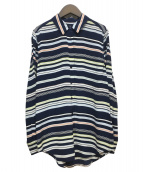 EQUIPMENT(エキップモン)の古着「シルクシャツ」|ネイビー