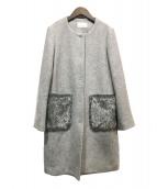 M-PREMIER(エムプルミエ)の古着「ポケットファーコート」|グレー
