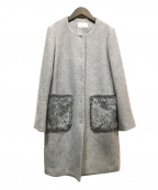 M-PREMIER(エムプルミエ)の古着「ポケットファーコート」 グレー