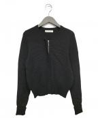 M-PREMIER(エムプルミエ)の古着「ニットブルゾン」 ブラック