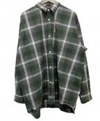 BEAMS(ビームス)の古着「チェックシャツ」 グリーン