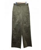DES PRES(デプレ)の古着「ギザコットンセミワイドパンツ」 オリーブ