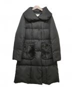 M-PREMIER(エムプルミエ)の古着「ポケットファーダウンコート」|ブラック