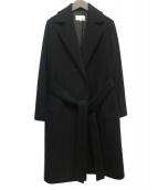 M-PREMIER(エムプルミエ)の古着「ベルテッドコート」|ブラック
