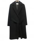 M-PREMIER(エムプルミエ)の古着「ベルテッドコート」 ブラック