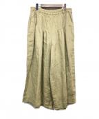 YACCO MARICARD(ヤッコマリカルド)の古着「リネンワイドパンツ」|ベージュ
