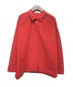 YACCO MARICARD(ヤッコマリカルド)の古着「シャツジャケット」|レッド