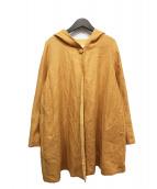 ()の古着「リネン混フーデッドジャケット」 イエロー