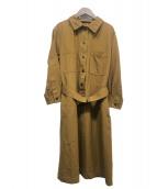 ()の古着「ベルト付きワンピース」|ブラウン