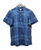 TOMORROW LAND×ERRICO FORMICOLA(トゥモローランド×エッリコ フォルミコラ)の古着「リネンシャツ」|ネイビー