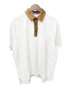 CABAN(キャバン)の古着「コットン ポロTシャツ」|ホワイト×ブラウン