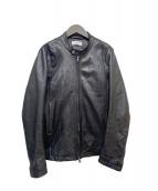 ()の古着「シープスキンレザージャケット」 ブラック