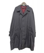 ()の古着「オーバーサイズステンカラーコート」 グレー