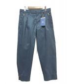 KOLOR(カラー)の古着「ナイロンタックパンツ」|ネイビー