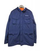POLO RALPH LAUREN(ポロ・ラルフローレン)の古着「フーデッドミリタリージャケット」|ネイビー