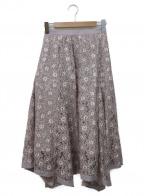 Rirandture(リランドチュール)の古着「イレヘムレーススカート」|ピンク
