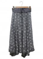 Rirandture(リランドチュール)の古着「イレヘムレーススカート」|グレー