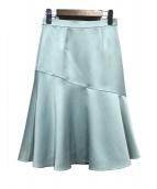 ANAYI(アナイ)の古着「切替スカート」|ブルー