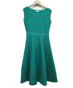 TOCCA(トッカ)の古着「EYELET KNIT DRESS」|グリーン