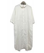 YACCO MARICARD(ヤッコマリカルド)の古着「リネンワンピース」|ホワイト