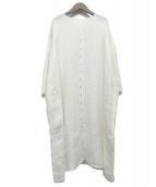 JURGEN LEHL(ヨーガンレール)の古着「リネンワンピース」|ホワイト