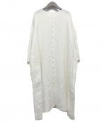 JURGEN LEHL(ヨーガンレール)の古着「リネンワンピース」 ホワイト