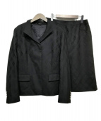BURBERRY LONDON(バーバリーロンドン)の古着「セットアップスカートスーツ」|ブラック