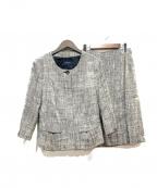 BURBERRY LONDON()の古着「シルク混セットアップスカートスーツ」 グレー