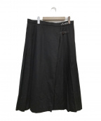 BURBERRY LONDON(バーバリー ロンドン)の古着「ラップスカート」 ブラック