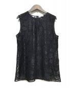 ()の古着「Floral Lace Risi」 ブラック