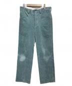 URU(ウル)の古着「CORDUROY EASY PANTS」|グリーン