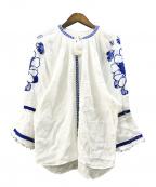 nagonstans(ナゴンスタンス)の古着「リネンレースブラウス」 ホワイト