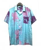 DOUBLE RAINBOUU(ダブルレインボー)の古着「オープンカラーシャツ」|スカイブルー