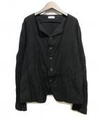 plantation(プランテーション)の古着「ノーカラージャケット」 ブラック