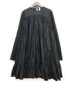 merlette(マーレット)の古着「ブラウスワンピース」 ブラック