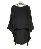 PLAIN PEOPLE(プレインピープル)の古着「シルクブラウス」|ブラック