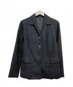BURBERRY LONDON()の古着「シルクジャケット」|ネイビー