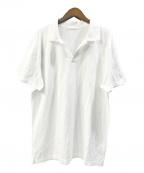 Cruciani(クルチアーニ)の古着「ストレッチカットソーポロシャツ」|ホワイト
