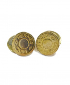 HERMES(エルメス)の古着「セリエカフリンクス」 ゴールド